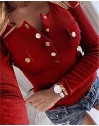 Дамска блуза в бордо - код 3437