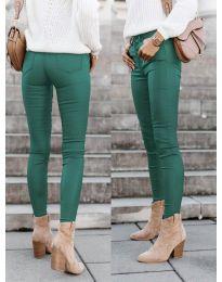 Дамски панталон в зелено - код 5052