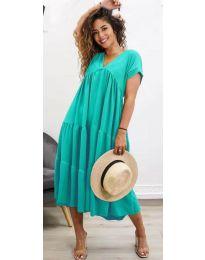 Феерична рокля в цвят мента - код 4475