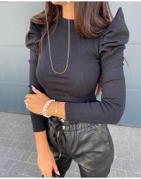 Дамска блуза в черно - код 8027