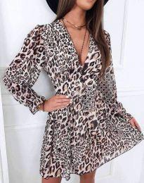 Дамска рокля с атрактивен десен - код 8434 - 5