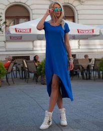 Свободна рокля в тъмносиньо - код 5507