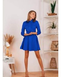 Свободна дамска рокля в синьо - код 6619