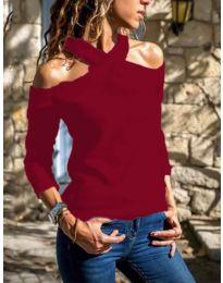 Дамска блуза в цвят бордо - код 4616