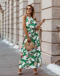Дълга рокля с атрактивен десен - код 2964 - 6