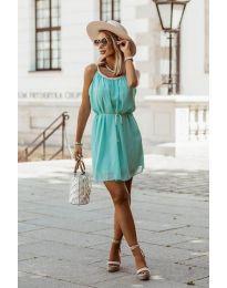 Изчистена рокля в цвят мента - код 8800