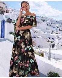Феерична рокля  в черно - код 8582