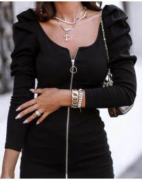 Дамска рокля в черно - код - 2067