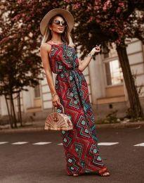 Дълга рокля с атрактивен десен - код 2964 - 5