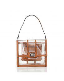 Дамска чанта в кафяво - код LS543