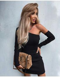 Елегантна рокля в черно - код 4933