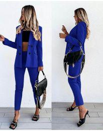Дамски комплект в синьо - код 5611