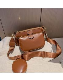Дамска чанта в кафяво - код 3344