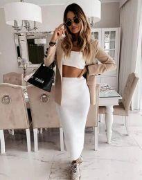 Дамска пола в бяло - код 2260