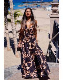 Феерична рокля с атрактивен десен - код 6610