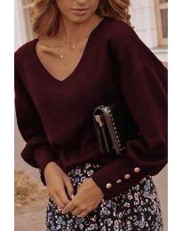 Елегантна дамска блуза в бордо - код 812