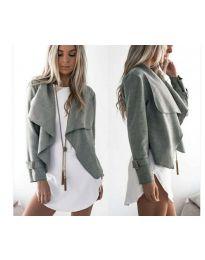 Дамско яке в сиво - код 4033