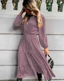 Дамска рокля в лилаво - код 6522