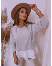 Дамска блуза в сиво - код 3898