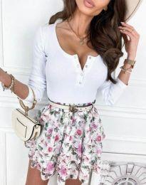 Дамска блуза в бяло - код 9054