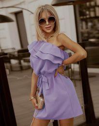 Кокетна дамска рокля в лилаво - код 7100