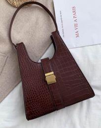 Дамска чанта в тъмнокафяво - код B418