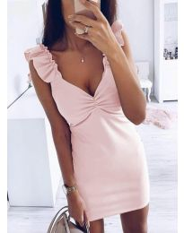 Дамска рокля в розово - код 1338