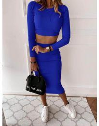 Дамски комплект в синьо - код 3334