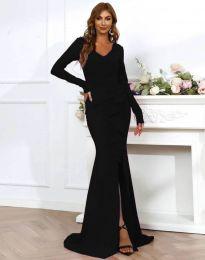 Дълга елегантна рокля в черно - код 0574
