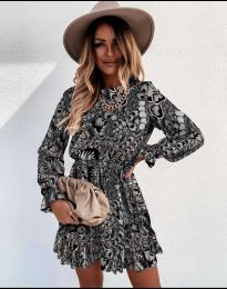 Дамска рокля с атрактивни мотиви - код 248 - 6