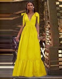 Дълга рокля в жълто - код 2743