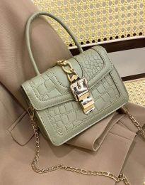 Дамска чанта в масленозелено - код B441