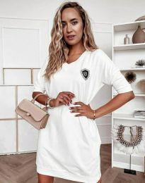 Дамска рокля в бяло - код 7089