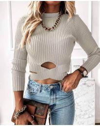 Дамска блуза в сиво - код 4089