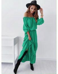 Дамска рокля в зелено - код 1317