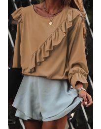 Дамска блуза в цвят капучино - код 6009