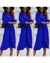 Свободна дамска рокля в синьо - код 1510