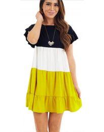 Свободна рокля в жълто - код 741
