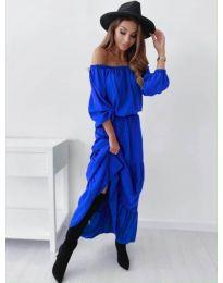 Дамска рокля в синьо  - код 1317