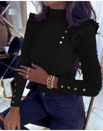 Дамска блуза в черно - код 6566