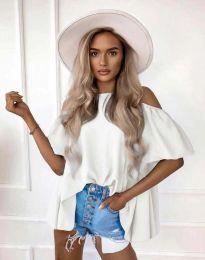 Атрактивна дамска блуза в бяло - код 0157