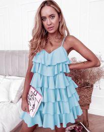 Лятна рокля в светлосиньо - код 8190