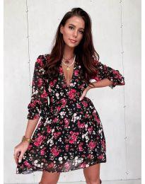 Феерична рокля  с флорален мотив - код  3161 - 1