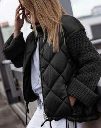 Атрактивно дамско яке в черно - код 4820