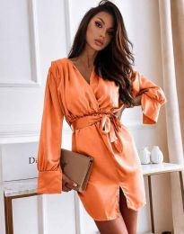 Елегантна рокля в оранжево - код 2741