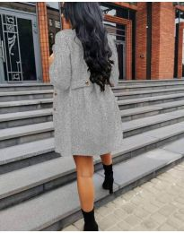 Дамско палто в сиво - код 6977
