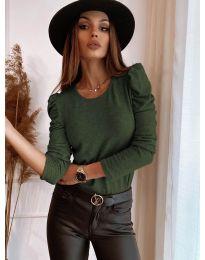 Дамска блуза в зелено - код 9556