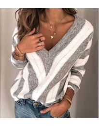 Дамска блуза в сиво - код 786