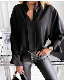 Дамска риза в черно - код 1218