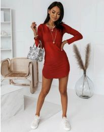 Дамска рокля  в червено - код 8856